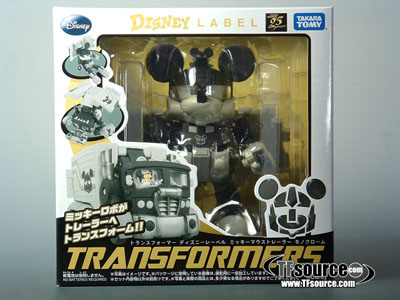Disney Label - Mickey Mouse - Black and White Version