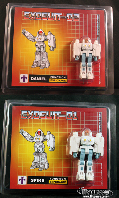 Transforming Exo-Suit Daniel & Spike Set