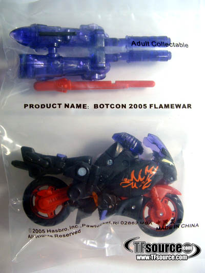 Botcon 2005 Flame War Exclusive Figure
