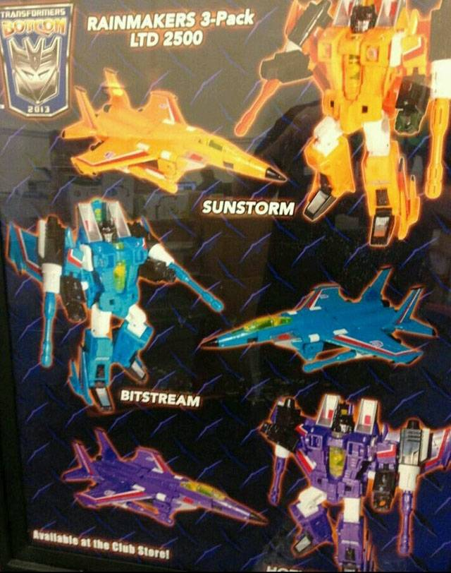 Botcon 2013 - Convention Exclusive - Rainmaker - 3 Pack