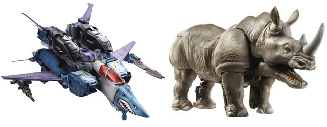 Transformers 2014 - Generations Voyager Class - Wave 01 - Set of 2 - Doubledealer & Rhinox