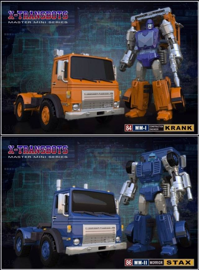 Xtransbots - MM-1 Krank & MM-2 Stax Set of 2