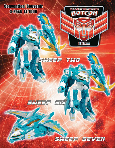 Botcon 2009 Sweeps 3-Pack Set