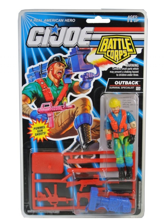 GI Joe - 1993 - Battle Corps - Outback V3 - MOSC