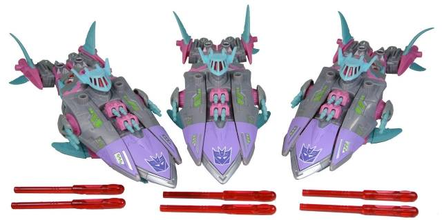 Botcon 2010 - Sharkticon Gnaw 3-Pack - Loose - 100% Complete