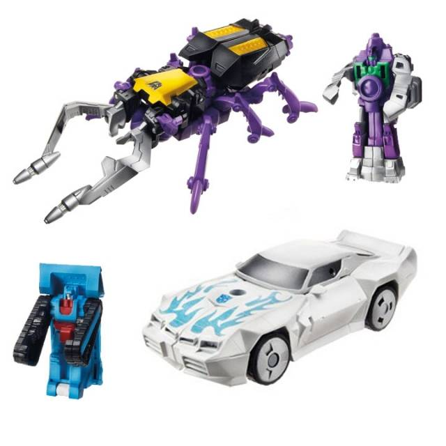 Transformers 2014 - Generations Legends Series 02 - Set of 2 Figures - Shrapnel and Tailgate