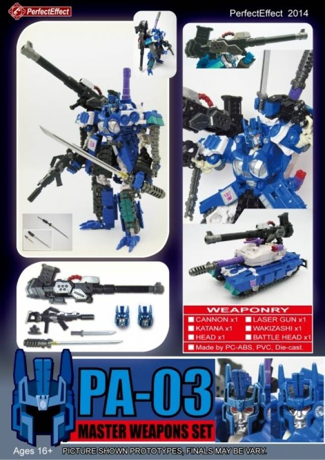 Perfect Effect - PA-03 - Samurai Weapon Set - Add on for Overlord