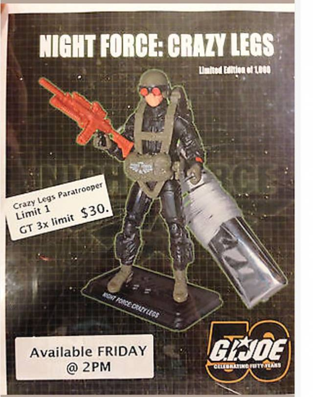GI Joe - JoeCon 2014 Night Force Crazy Legs