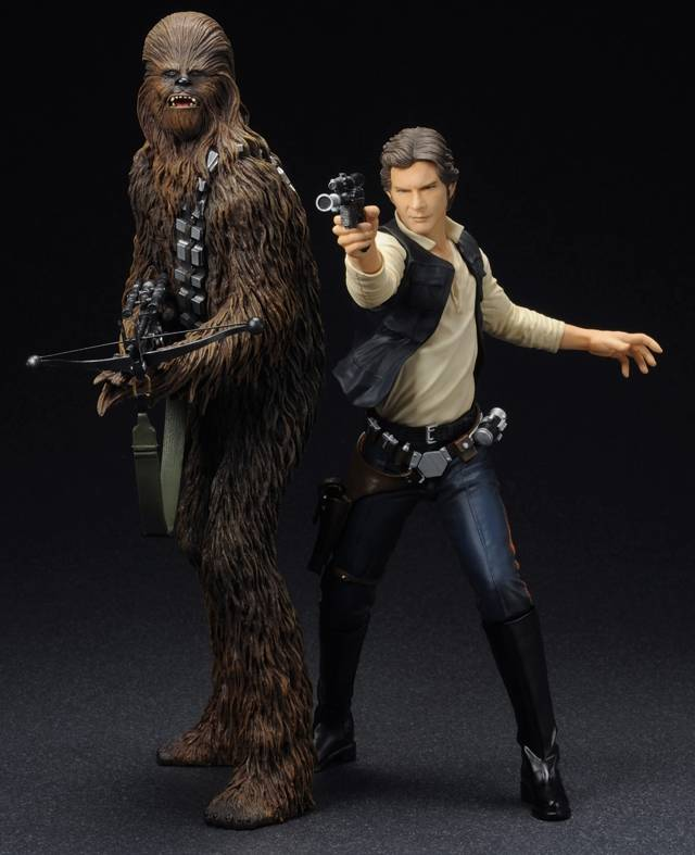 Kotobukiya - Star Wars Han Solo & Chewbacca ARTFX+ 1/10 Scale Statue