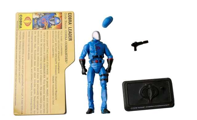 GIJoe - 25th Anninversary - Cobra Commander - Cobra Battle Pack 1 - Loose 100% Complete