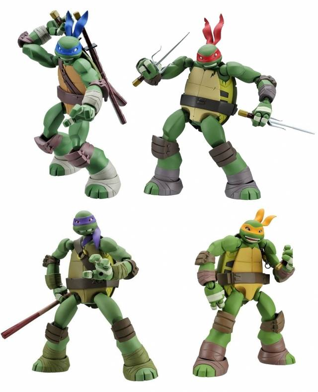 Teenage Mutant Ninja Turtles - TMNT - Revoltech Set of 4