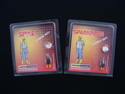 Spike and Sparkplug Figures
