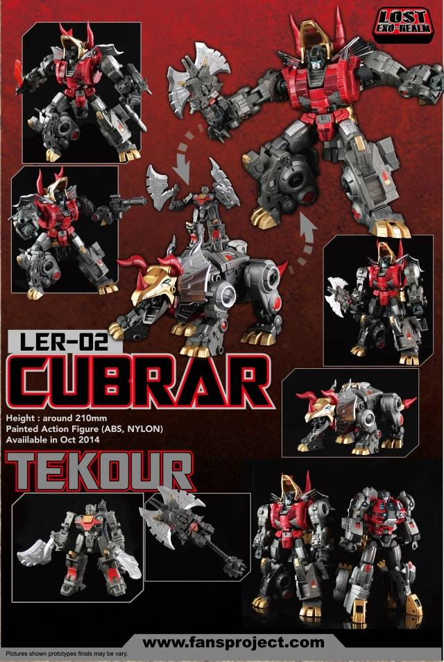 Fansproject - Lost Exo Realm - LER-02 Cubrar and Tekour