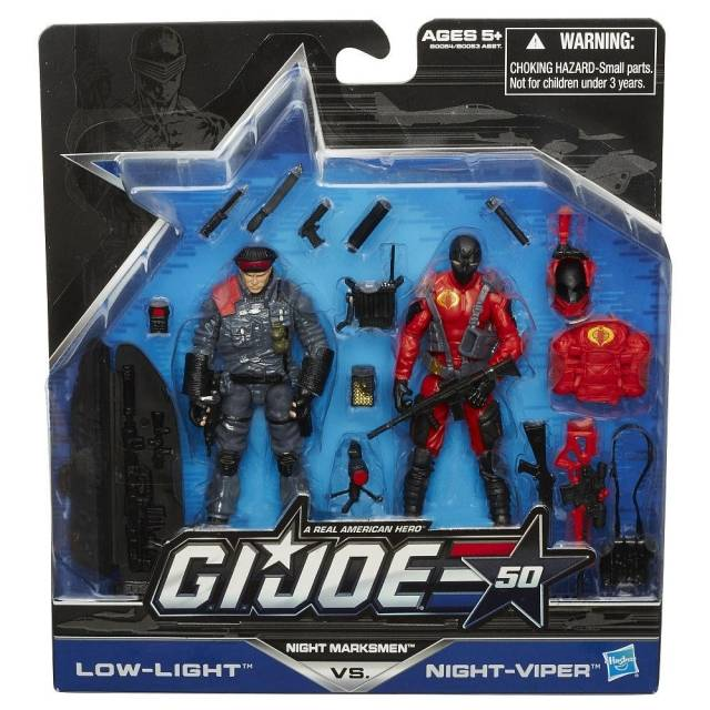 GIJoe - 50th Anniversary - Wave 1 - Night Marksmen - 2-pack Low-Light and Night-Viper