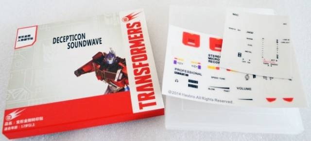 Sticker Set for Transformers MP-13 MP-13B Masterpiece Soundwave