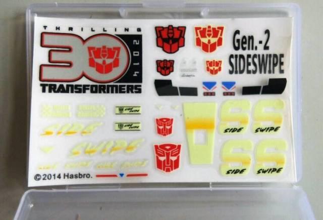Sticker Set for Transformers MP-12G Masterpiece G2 Sideswipe