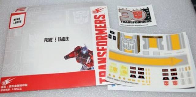 Sticker Set for Transformers MP-10 Masterpiece Optimus Prime Trailer