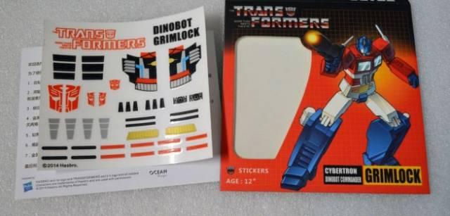 Sticker Set for Transformers MP-08 Masterpiece Grimlock
