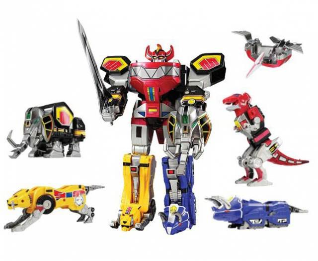 mighty morphin power rangers legacy dino megazord 20th. Black Bedroom Furniture Sets. Home Design Ideas