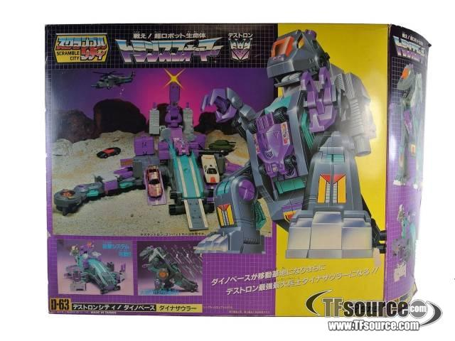 G1 Japanese - D-63 Trypticon - MIB - Missing blasters and scanners