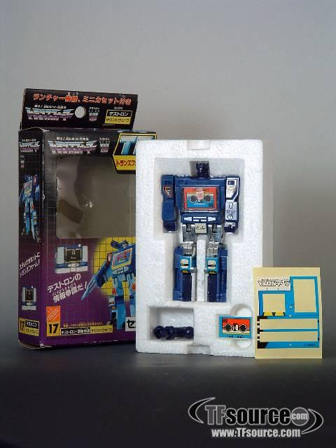 Transformers G1 - Japanese  - Transform Jr. Soundwave - MIB - 100% Complete