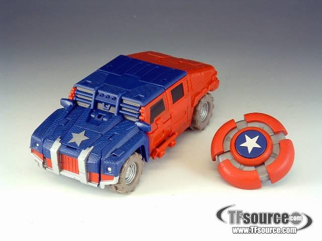 Marvel Transformers Crossovers - Captain America - Loose - 100% Complete