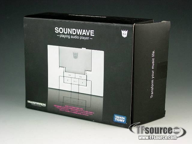 Music Label MP3 Player Soundwave - Sonic White Version - MIB - 100% Complete
