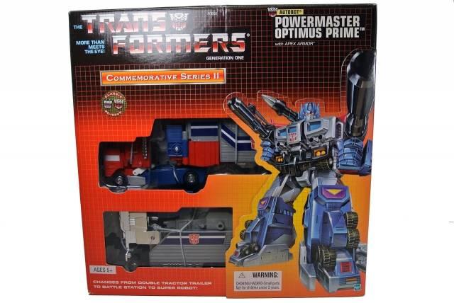 Reissue - Powermaster Optimus Prime with Apex Armor - MIB - 100% Complete