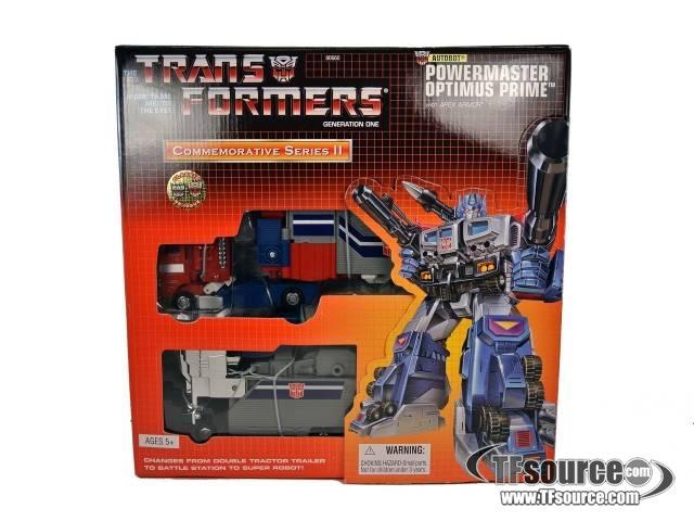 Reissue Commemorative  Series - Powermaster Optimus Prime with Apex Armor - MISB