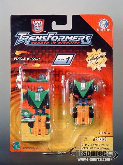 Robots in Disguise - Sideswipe - Spychanger - Tiny Tins - MOSC