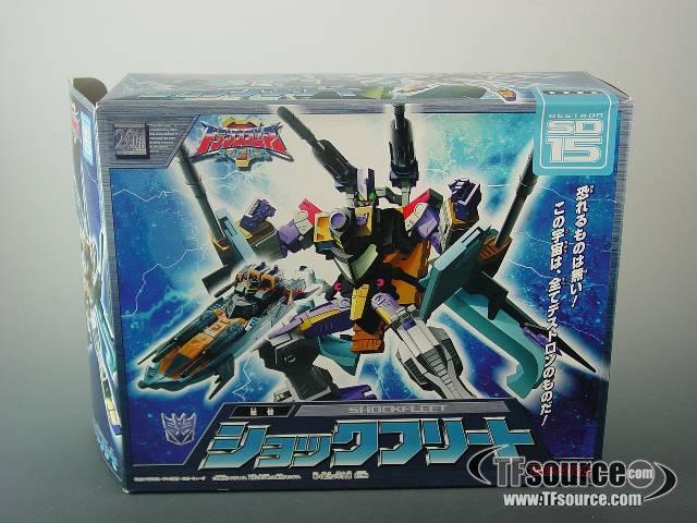 Energon - SD-15 Shock Fleet - MIB - 100% Complete