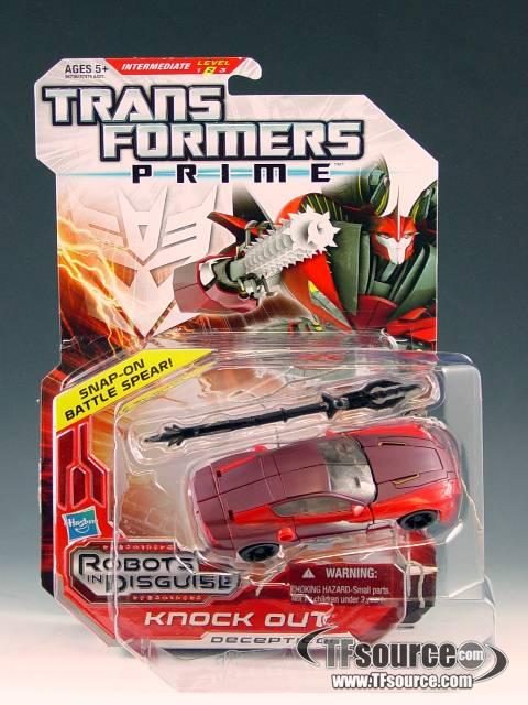Transformers Prime Deluxe Series 03 - Robots in Disguise - Knock Out - MOC - 100% Complete
