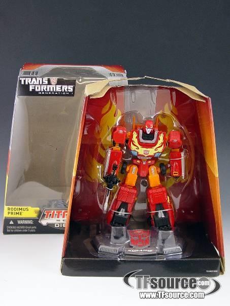 Titanium - Rodimus Prime - MIB - 100% Complete
