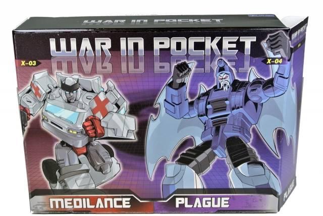 War in Pocket - X03 Medilance & X04 Plague Set of 2 - MIB - 100% Complete