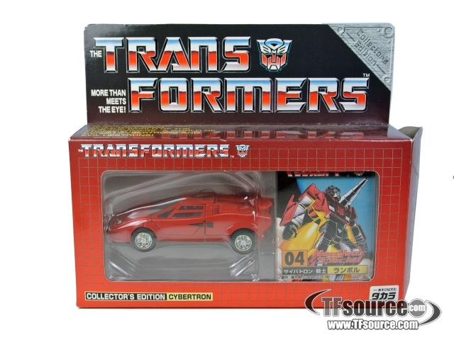 Collectors Edition - Reissue 04 Sideswipe - World Character Convention Exclusive - MIB - 100% Complete