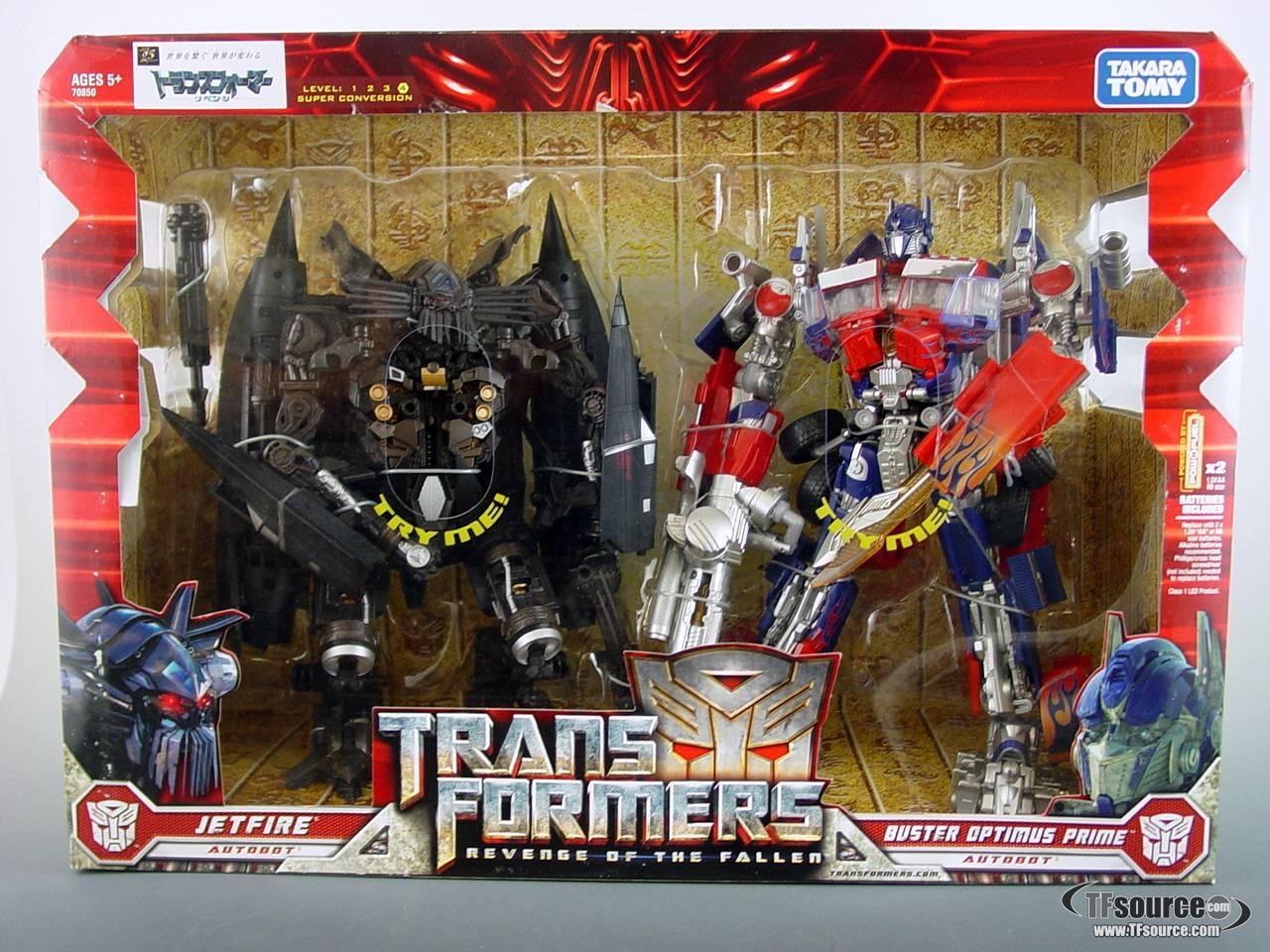 Revenge of the Fallen - Jetpower Buster Optimus Prime and Jetfire - MISB