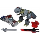 Transformers AOE - Silver Knight Optimus Prime & Grimlock - Loose - 100% Complete