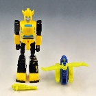 Transformers G1 - Action Master Bumblebee W/ Heli-Pack - Loose - 100% Complete