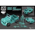Acid Rain - SDCC Exclusive - Green Jeep with Green Sol Commander 1:18 scale Figure