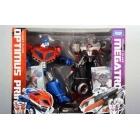 Japanese Transformers Animated - Optimus Prime vs. Megatron