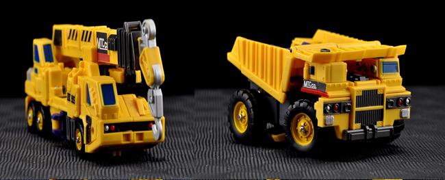Make Toys - Giant - Set B - Crane & Dump Truck - Yellow Version - MIB