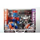 Japanese Transformers Animated - Cybertron Mode Optimus Prime vs. Megatron