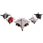 Transformers Unite Warriors - UW-01 - Superion Set of 5 - Loose 100% Complete