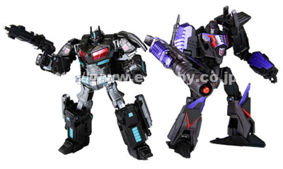 Transformers United - Tokyo Toy Show - Darkside Optimus Prime & Megatron - Loose 100% Complete