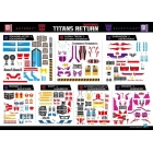 Titans Return - Exclusive Sticker Set 2 - Soundwave Astrotrain Alpha Trion