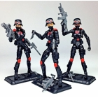 G.I. Joe Cobra Night Stalkers Female Troopers 3-pack G.I. Joe Club 2018 Exclusive
