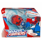Transformers - Animated - Voyager Class - Earth Mode Optimus Prime with Autobot sign