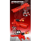 X2 Toys - XT004 Interceptor Kit - Add on Transforming Gun for Titan Metroplex - Red Version
