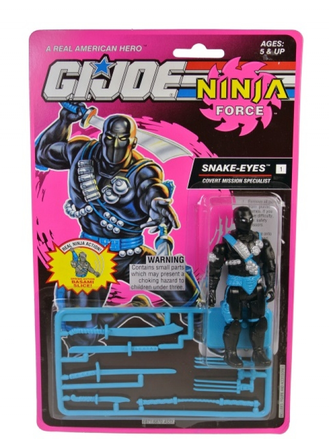 GI Joe - 1993 - Ninja Force - Snake Eyes V5 - MOSC