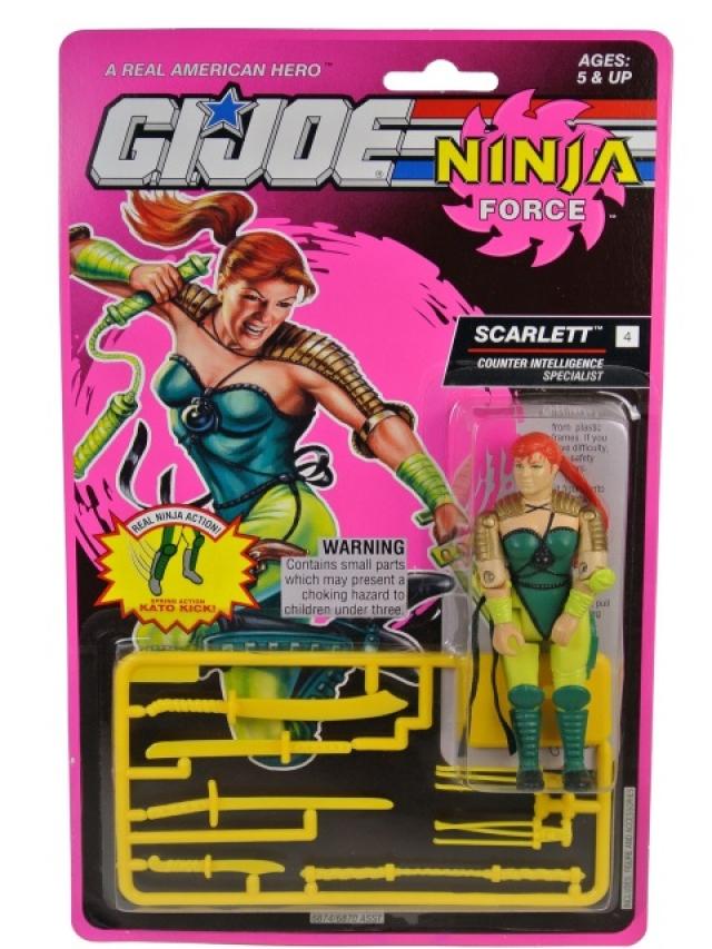 GI Joe - 1993 - Ninja Force Scarlett V2 - MOSC